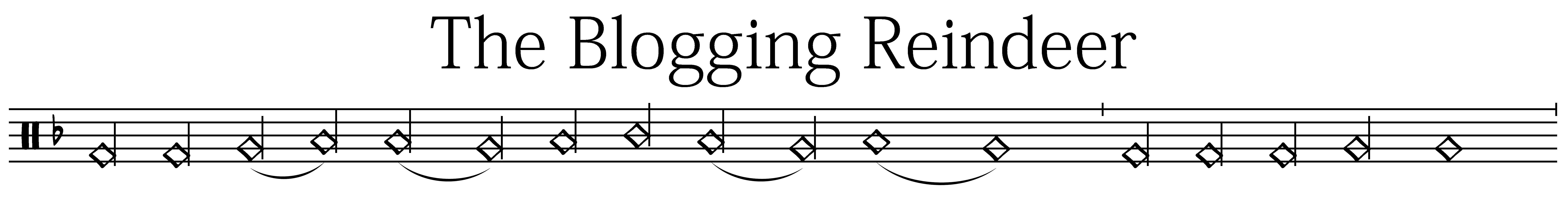 The Blogging Reindeer Logo